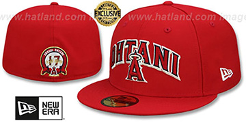 Angels OHTANI ARCH Red Fitted Hat by New Era