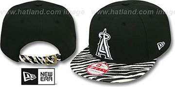 Angels 'OSTRICH-ZEBRA STRAPBACK' Hat by New Era