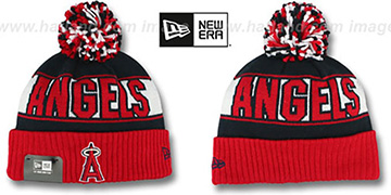 Angels 'REP-UR-TEAM' Knit Beanie Hat by New Era