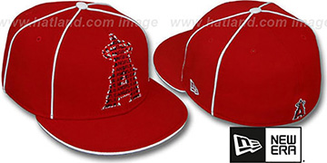 Angels REPEAT BIG-ONE Red Fitted Hat by New Era