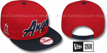 Angels 'SNAP-IT-BACK SNAPBACK' Red-Navy Hat by New Era