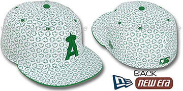 Angels 'ST PATS FLOCKING' White Fitted Hat by New Era