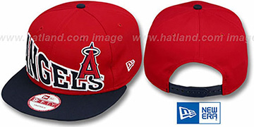 Angels 'STOKED SNAPBACK' Red-Navy Hat by New Era