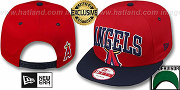 Angels SUPER-LOGO ARCH SNAPBACK Red-Navy Hat by New Era