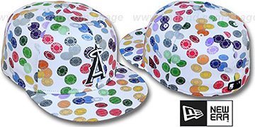 Angels TOKENS White-Multi Fitted Hat by New Era