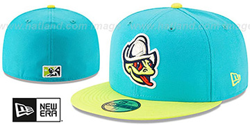 Aquasox COPA Turquoise-Yellow Fitted Hat by New Era