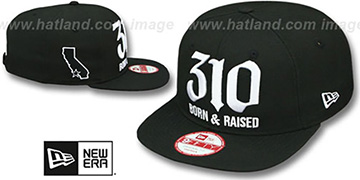 Area Code '310 BORN-N-RAISED SOCAL SNAPBACK' Black Hat by New Era