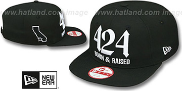 Area Code '424 BORN-N-RAISED SOCAL SNAPBACK' Black Hat by New Era