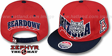 Arizona 2T FLASHBACK SNAPBACK Red-Navy Hat by Zephyr