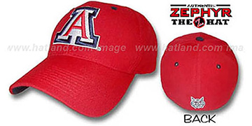 Arizona 'DH' Fitted Hat by ZEPHYR - red