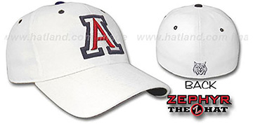 Arizona 'DH' Fitted Hat by ZEPHYR - white