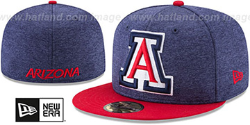 Arizona HEATHER-HUGE Navy-Red Fitted Hat by New Era