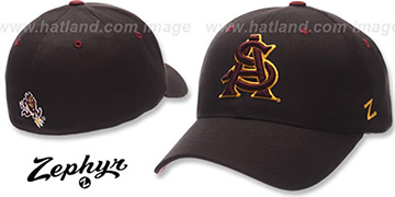 Arizona State DH Black Fitted Hat by Zephyr