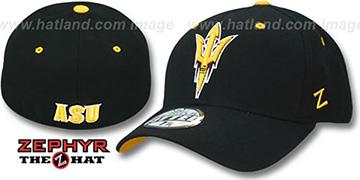 Arizona State 'DHS' Black Fitted Hat by Zephyr