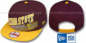 Arizona State 'STILL ANGLIN SNAPBACK' Burgundy-Gold Hat by New Era