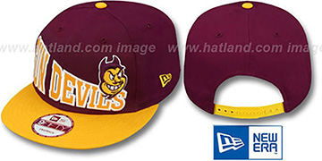 Arizona State 'STOKED SNAPBACK' Burgundy-Gold Hat by New Era