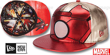 Armor Ironman 'CHARACTER FACE' Red-Gold Fitted Hat by New Era