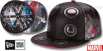 Armor Thor CHARACTER FACE Black-Silver Fitted Hat by New Era