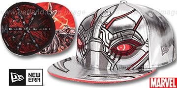 Armor Ultron CHARACTER FACE Silver Fitted Hat by New Era
