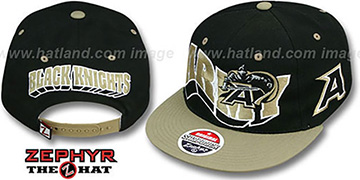 Army '2T FLASHBACK SNAPBACK' Black-Gold Hat by Zephyr