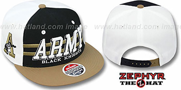 Army '2T SUPERSONIC SNAPBACK' Black-Gold Hat by Zephyr