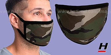 ARMY CAMO Washable Fashion Mask by Hatland.com