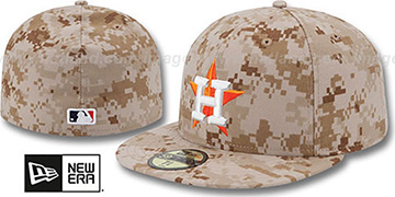 Astros 2013 'STARS N STRIPES' Desert Camo Hat by New Era