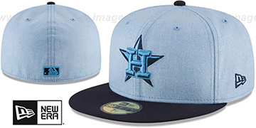 Astros 2018 FATHERS DAY Sky-Navy Fitted Hat by New Era