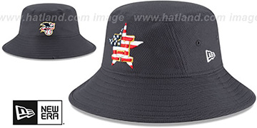 Astros 2018 JULY 4TH STARS N STRIPES BUCKET Navy Hat by New Era
