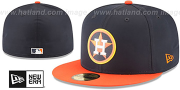 Astros 2018 PROLIGHT-BP Navy-Orange Fitted Hat by New Era