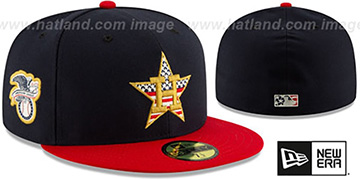 Astros 2019 JULY 4TH STARS N STRIPES Fitted Hat by New Era