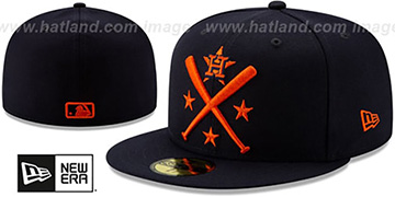 Astros 2019 MLB ALL-STAR ALTERNATE WORKOUT Navy Fitted Hat by New Era