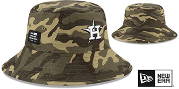 Astros 2021 ARMED FORCES 'STARS N STRIPES BUCKET' Hat by New Era