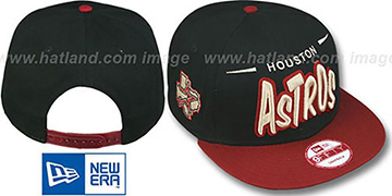 Astros '2T DOPETASTIC SNAPBACK' Black-Brick Hat by New Era