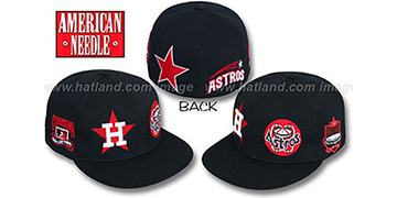 Astros 'BIGFOOT' Fitted Hat by American Needle - black