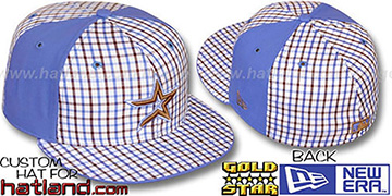 Astros BLUE BONNETT Plaid-Light Blue Fitted Hat by New Era