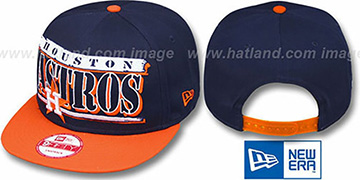 Astros COOP '2T STILL BREAKIN SNAPBACK' Navy-Orange Hat by New Era