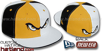 Storm PINWHEEL Gold-White-Black Fitted Hat by New Era