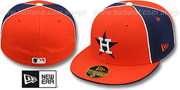 Astros COOP PINWHEEL Orange-Navy Fitted Hat by New Era
