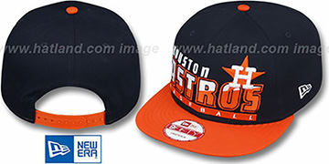 Astros COOP SLICE-N-DICE SNAPBACK Navy-Orange Hat by New Era