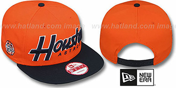 Astros COOP SNAP-IT-BACK SNAPBACK Orange-Navy Hat by New Era