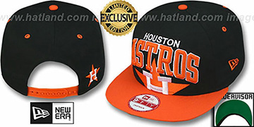Astros COOP 'SUPER-LOGO ARCH SNAPBACK' Black-Orange Hat by New Era