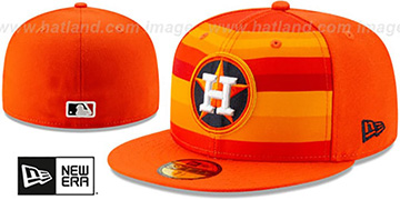 Astros COOPERSTOWN-PACK Orange-Multi Fitted Hat by New Era