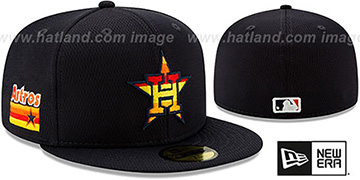 Astros DASHMARK BP Navy Fitted Hat by New Era