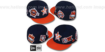 Astros DEEZ PATCHES Navy-Orange Fitted Hat by New Era