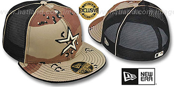 Astros 'DESERT STORM MESH-BACK' Fitted Hat by New Era