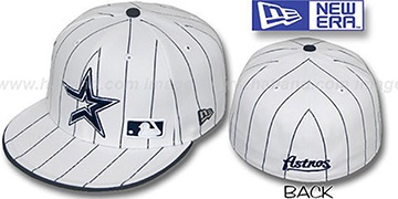 Astros 'FABULOUS' White-Navy Fitted Hat by New Era