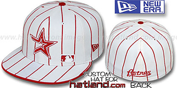 Astros 'FABULOUS' White-Red Fitted Hat by New Era