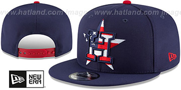 Astros 'FLAG FILL INSIDER SNAPBACK' Navy Hat by New Era