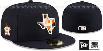 Astros 'GOLD STATED INSIDER' Navy Fitted Hat by New Era
